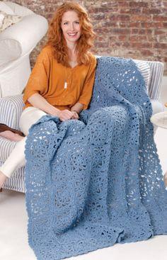 Renaissance Beauty Throw Crochet Pattern
