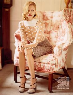 currently channeling the 1950's- I would like that top and one those little chairs too, please