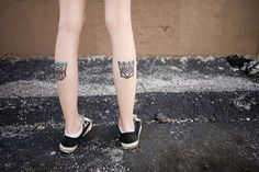 Inked Transformers Logo on Calfs - http://www.lovely-tattoo.com/inked-transformers-logo-on-calfs/