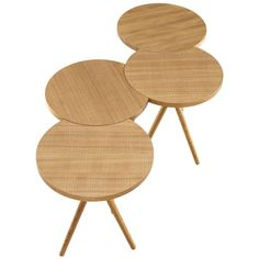Itisy table by Philippine Lemaire for Ligne Roset - designed to rotate around one another...very cool. #design #style
