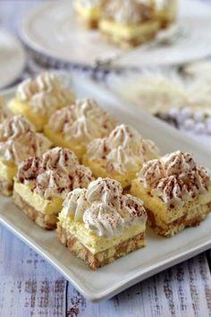 Vaníliás-gesztenyés szelet recept - Kifőztük, online gasztromagazin Hungarian Desserts, Hungarian Cake, Hungarian Recipes, Sweet Recipes, Cake Recipes, Dessert Recipes, Croatian Recipes, Sweet And Salty, No Bake Cake