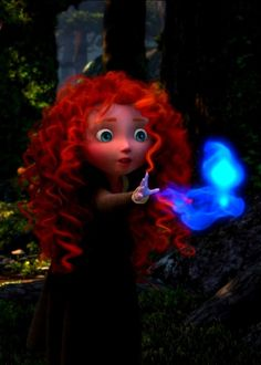 lil Merida's so cute!! I love when they show the princesses little like Merida, Tiana, and Rapunzel
