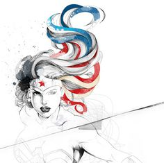 wonderwoman drawing-- I FUCKING LOVE THIS.