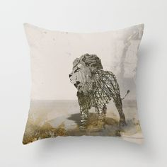 Throw Pillow made from 100% spun polyester poplin fabric, a stylish statement that will liven up any room. Individually cut and sewn by hand, each pillow features a double-sided print and is finished with a concealed zipper for ease of care.  Sold with or without faux down pillow insert. #pillows   #homewares   #decor  #society6