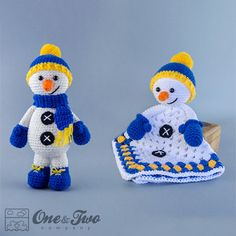 Combo Pack - Snowman Lovey and Amigurumi Set for 5.99 Dollars - PDF Crochet Pattern - Instant Download - Special Offer Pattern Pack
