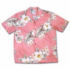 Orchid Designs Black Hawaiian Shirt with Hibiscus and Plumeria motif by Ky's of Hawaii Size Small URs6L