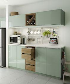 Si le añades a tus muebles las puertas de colores KALLARP le darás un toque  moderno a tu cocina. (50€) 016fe77170d2