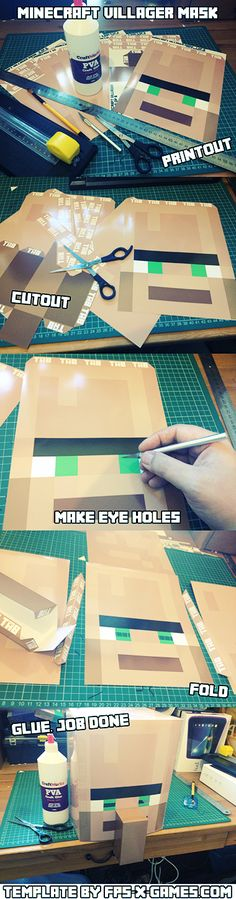 How to create your own Minecraft villager mask #minecraft #mask