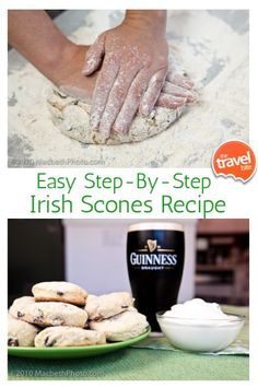 An easy step-by-step Irish scones recipe for making traditional Irish scones with raisins. From food and travel expert Rachelle Lucas of TheTravelBite.com ~ http://thetravelbite.com