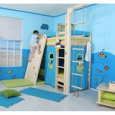 Patrová postel pro 2 děti DOMINO D906 - TZ, masiv smrk