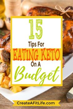 Keto on a budget is easier than you think. These tasty low carb diet recipes will feed a family of four without breaking the bank. Quick Weight Loss Diet, Diet Plans To Lose Weight, How To Lose Weight Fast, Keto On A Budget, Budget Meals, Sugar Free Recipes, Low Carb Recipes, Can I Eat, Low Carb Diet Plan
