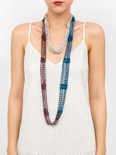 Give your accessory game a facelift with our jewelry scarves which bring together two of your favorites! As a great alternative to a necklace, this multi color tonal jewelry scarfwill transform asimple outfit from bland to beautiful! 100%Acrylic Imported Hand wash cold, do not bleach, line dry, do not iron One size fits most