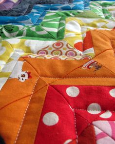 Note to self: quarter inch stiches inside the seams adds a nice quilty look.