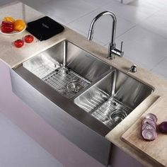 One Bowl Stainless Steel Kitchen Sinks Vigo all in one 32 mercer stainless steel undermount kitchen sink kraus 33 inch farmhouse double bowl stainless steel kitchen sink with noisedefend soundproofing silver size 20 22 workwithnaturefo