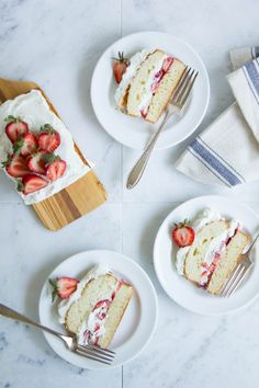 Cardamom Strawberry Shortcake Cake