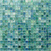 "HotGlass - Bohemia 5/8"" x 5/8"" Glass Tile in Mallard 12 7/8"" x 12 7/8"" Paper Faced Sheets - ( HAK-128630 )"