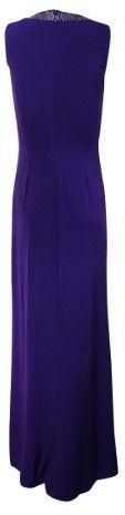 Calvin Klein Women's Rhinestone-Trim Sleeveless Jersey Gown (12, Night)