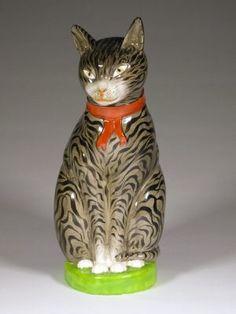 Pottery Animals, Japanese Folklore, Cat Illustrations, Antique Collectors, Cat Statue, Maneki Neko, All About Cats, Clay Animals, Vintage Cat