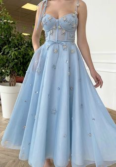 Cute Prom Dresses, Grad Dresses, Ball Dresses, Elegant Dresses, Pretty Dresses, Beautiful Dresses, Baby Blue Prom Dresses, Tulle Prom Dress, Ball Gown Dresses
