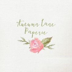 Customizable Watercolor Logo  Simple Single by AutumnLanePaperie
