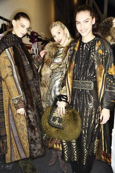 Backstage at ETRO Fall 2014-yum looks like a gorgeous Vogue shoot from the seventies. Pure luxe!