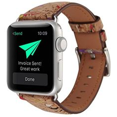 YRD TECH Apple Watch ,Retro Wood Grain Leather Watch Band Strap For Apple Watch 42mm, (C) ** Click image to review more details. (This is an affiliate link and I receive a commission for the sales) #ClipsArmWristbands