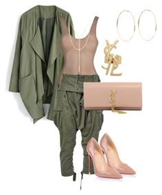 """Untitled #107"" by candicegeorge on Polyvore featuring Chicwish, Faith Connexion, Christian Louboutin, Yves Saint Laurent, South Moon Under and Kenneth Jay Lane"