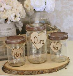 Wedding Sand Ceremony Jars @Bobbie Mitchell Hampton @Norma Johnson McWhorter @Honey Bunch Lasalle