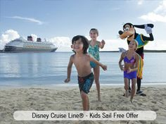 Disney Cruise Line® is celebrating its inaugural season in Miami with a special Kids Sail Free offer! Your Clients can choose from 4-night Bahamian cruises or 5-night Western Caribbean cruises with most itineraries including a stop at Disney's private island, Castaway Cay. smallworldbigfun.com  #disney #disneycruiselines