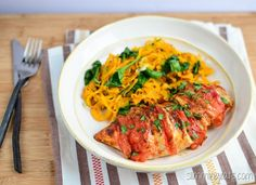 Slimming Eats - Tomato and Mozzarella Stuffed Chicken - Gluten free, Paleo, Slimming World (SP) and Weight Watchers friendly