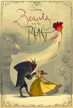 Looking for some amazing posters from your favorite Disney movie Beauty and the Beast?Then check out our awesome Beauty and the Beast poster collection. Walt Disney, Disney Pixar, Fera Disney, Disney Fan Art, Disney And Dreamworks, Disney Love, Disney Magic, Disney Characters, Disney Ideas