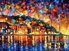 GREECE - PALETTE KNIFE Oil Painting On Canvas By Leonid Afremov - http://afremov.com/GREECE-PALETTE-KNIFE-Oil-Painting-On-Canvas-By-Leonid-Afremov-Size-30-X40.html?bid=1&partner=20921&utm_medium=/vpin&utm_campaign=v-ADD-YOUR&utm_source=s-vpin