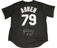 Jose Abreu Signed Chicago White Sox Black Majestic Authentic Jersey (PSA/DNA Auth)