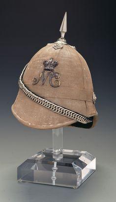 Natal Carabiniers Officer's Field Service Helmet British Army Uniform, British Uniforms, Military Art, Military Fashion, Military Uniforms, Pith Helmet, British Colonial, History, Rock Island