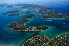 """The Kornati National Park is often mentioned as """"nautical paradise"""" in tourist publications. And really, in """"slalom"""" sailing through the 89 unforgettable islands,. Amazing Places On Earth, Places Around The World, Around The Worlds, Places To Travel, Places To See, Croatian Islands, Dalmatia Croatia, Sailing Holidays, Visit Croatia"""
