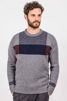 Fisherman Out of Ireland Crew Neck Mens Sweater Donegal, Free Knitting, Knitwear, Ireland, Crew Neck, Men Sweater, Otter, Sweaters, Design Inspiration