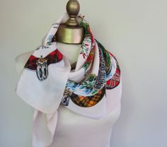 1950s scarf Bonnie Scotland by foulardfantastique on Etsy, $38.00