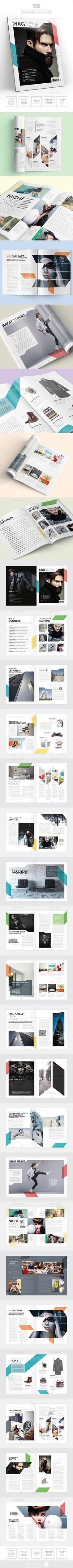 Magazine Template  InDesign 40 Page Layout V9 — InDesign INDD #brochure #clean