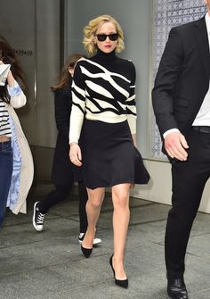 Jennifer Lawrence's sweater and skirt. See 7 other celebrities whose early spring outfits killed it.