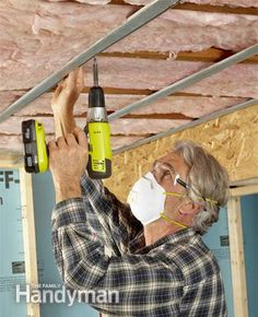 Basement Finishing Tips - Article: The Family Handyman  install a floating ceiling to reduce noise