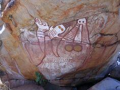 Crocodile Dreaming, Kimberley Aboriginal rock art, Australia.