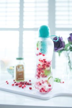 Check out this delicious spa water that's perfect for taking with you on the go!