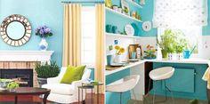 El verde azulado en la decoración de interiores