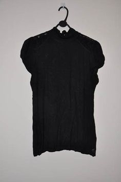 *T15* River Island ladies top - size 18 - lace shoulder high neck puff sleeve
