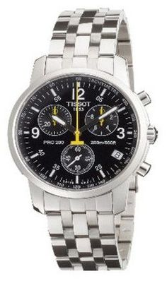 Tissot Men's T17158652 PRC 200 Chronograph Watch..One of the best watch for under 1000! http://topbestwatchbrands.com/best-watches-under-1000-dollars/