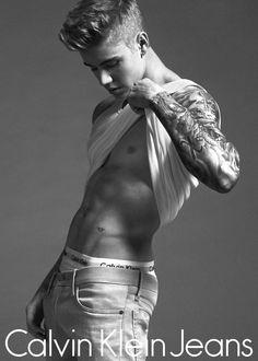 Calvin Klein Jeans Campaign SS 2015 - Justin Bieber & Lara Stone by Mert Alas & Marcus Piggott