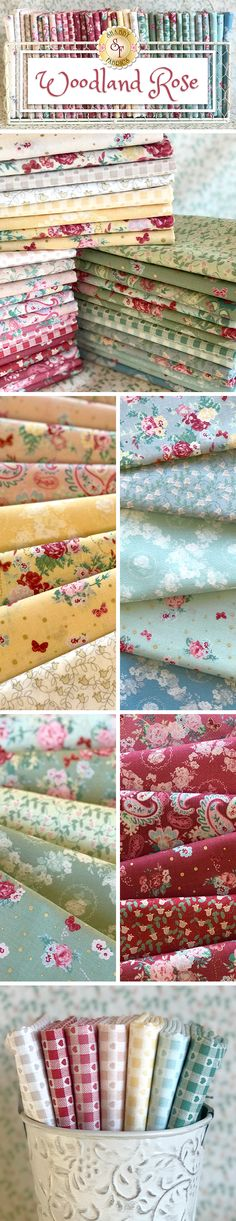 Fabric Freedom Woodland Floral 100/% Cotton Fabric FQ Crafting Patchwork Pastel
