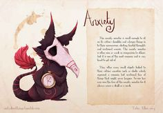 Mental illness as illustrated monsters. Very cool.
