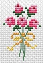 Mini Cross Stitch, Beaded Cross Stitch, Cross Stitch Flowers, Cross Stitch Embroidery, Cross Stitch Patterns, Embroidery Flowers Pattern, Embroidery Hoop Art, Ribbon Embroidery, Embroidery Designs
