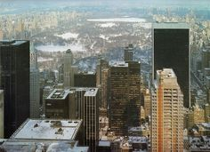 midtown manhattan looking north from rca building december 1981